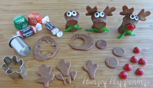 how to make Reese's Cup Rudolph the Red Nose Reindeer