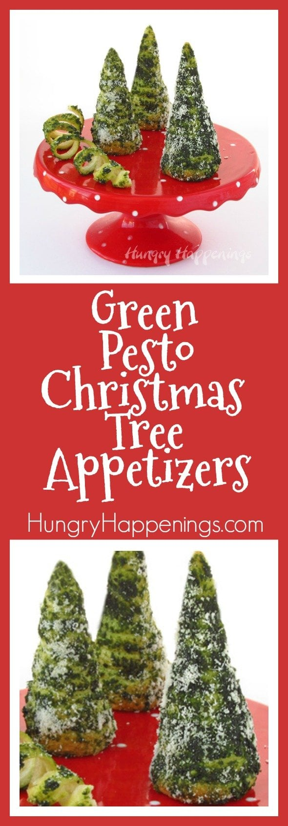 Add a touch of whimsy to your holiday meal by serving Green Pesto Crescent Roll Christmas Trees instead of dinner rolls. They are fun and easy to make.
