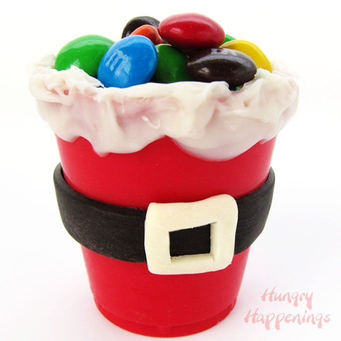 Edible Santa Suit Candy Cups Filled With Christmas Candy