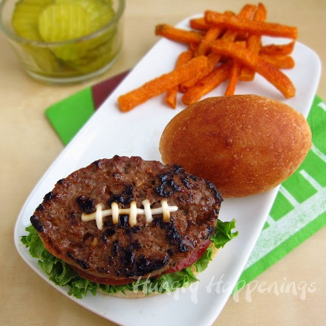 Put a spin on an American Classic and make it a little more festive. Use this Football Shaped Burger Recipe and create a masterpiece that will definitely score big with everyone who eats one.