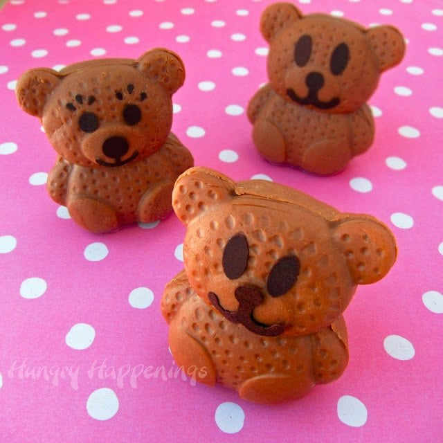 2-ingredient chocolate caramel fudge shaped into cute teddy bears