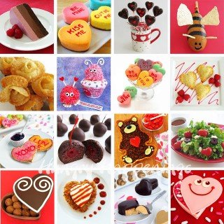 Recipes for Valentine's Day including Conversation Heart Cheesecakes