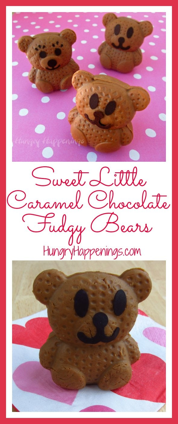 These Sweet Little Caramel Chocolate Fudgy Bears may look just like some teddy grahams. But when people bite into them they will be pleasantly surprised with a mouthful delicious, mouth-watering fudge.