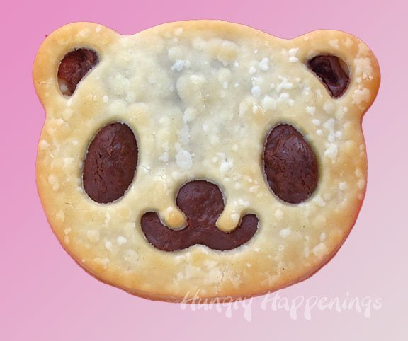 homemade panda bear-shaped poptarts filled with Nutella