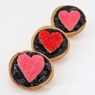 Mini Blueberry Heart Tarts