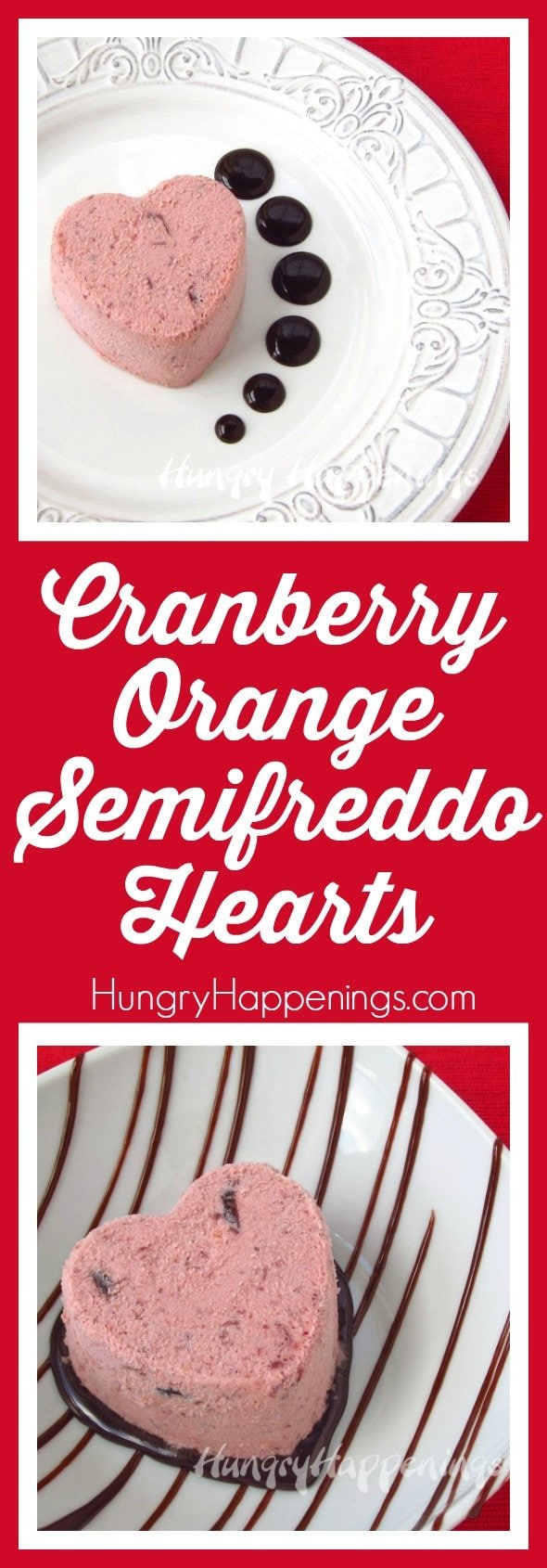 Cool off all the hot love this Valentine's Day with these Cranberry Orange Semifreddo Hearts. Enjoy some delicious Italian ice cream with some elegant flavors to accompany it.