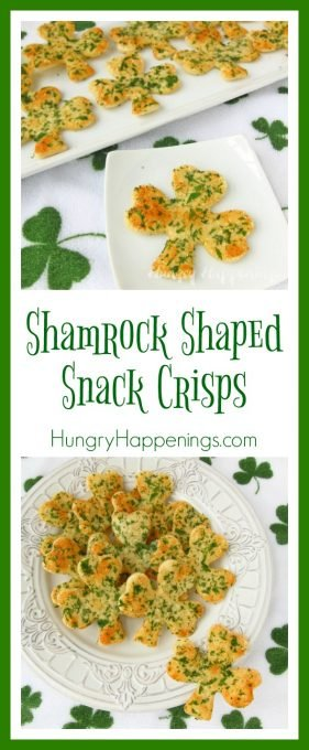 Looking for a savory appetizer to make for St. Patrick's Day? Try these Shamrock Shaped Snack Crisps, they'll impress your friends and are great to use on any dip!