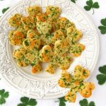St. Patrick's Day appetizers and snack shamrock crakers