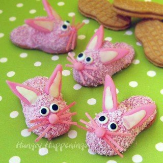 Bunny Slipper Cookies for Easter