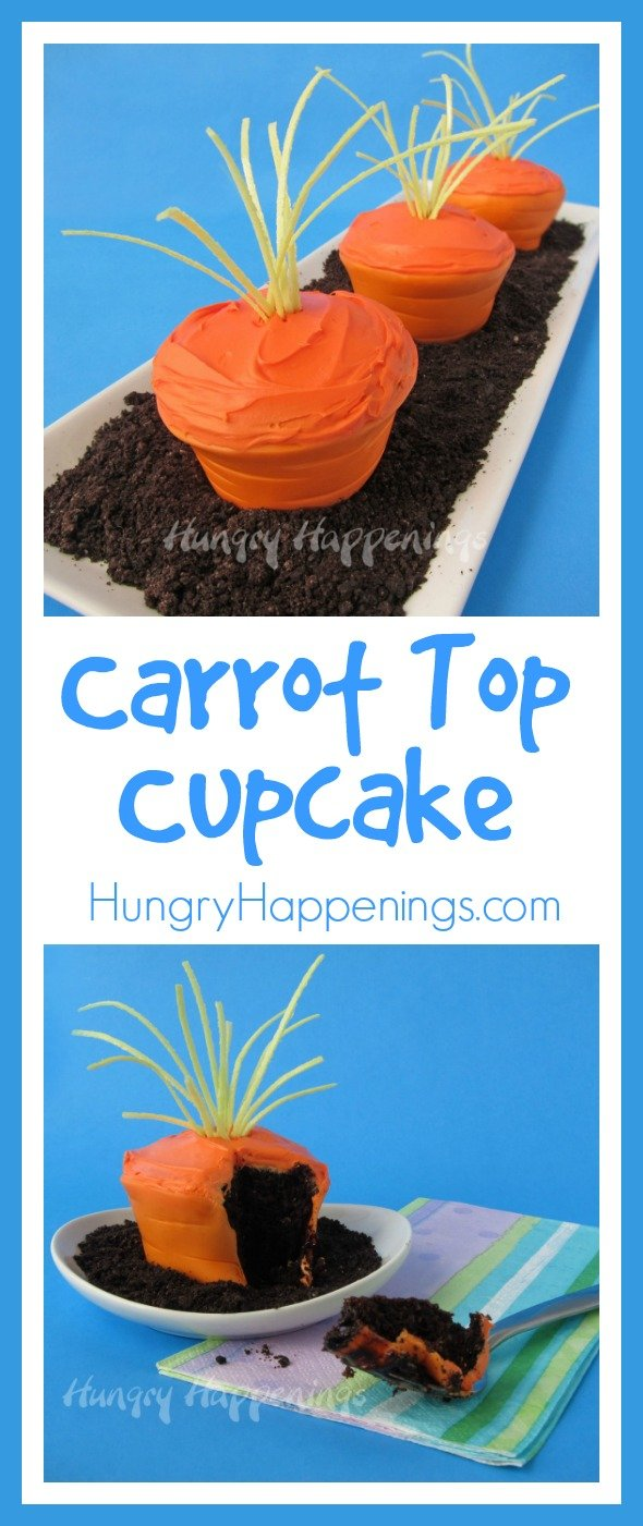 The Easter Bunny will be dying to get his paws on these delicious Easter Carrot Top Cupcakes! This delicious treat is the perfect project to have fun in the kitchen with your kids! Make these for Easter basket gifts or treats to simply share with friends and family.