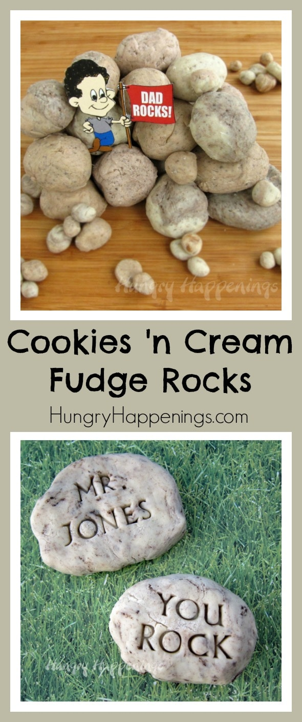 Help your kids show their teachers how much they appreciate them by making these edible Fudge Rocks! These delicious treats are so simple to make and only take a few supplies!