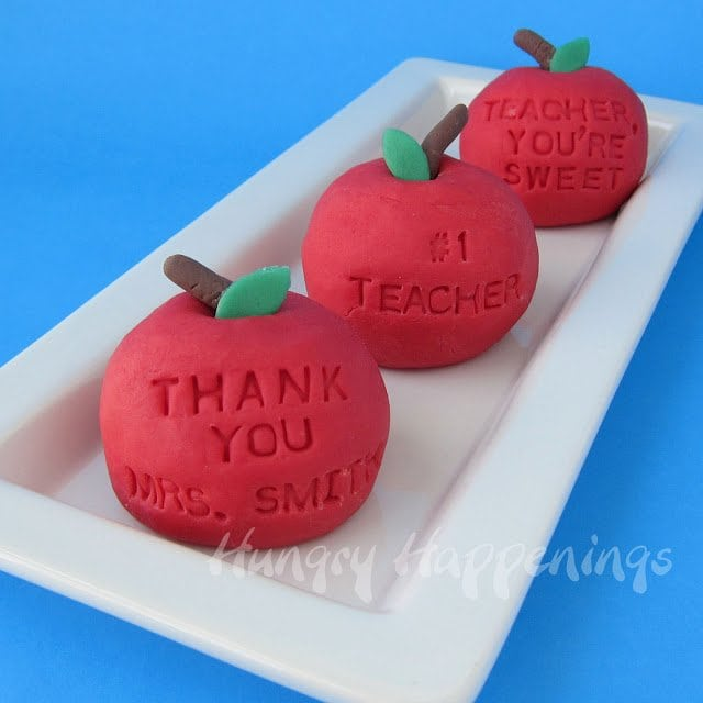 decorated fudge apples