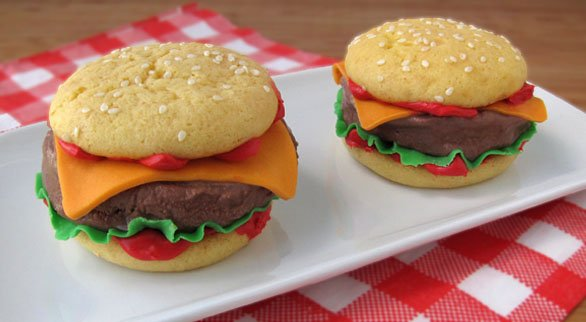 summer ice cream hamburger treat