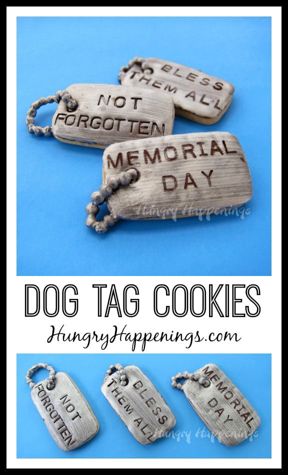 For Memorial Day make these Dog Tag Cookies and personalize them in Honor of those who have served our country! These yummy treats are perfect for any patriotic holiday and are a great centerpiece.