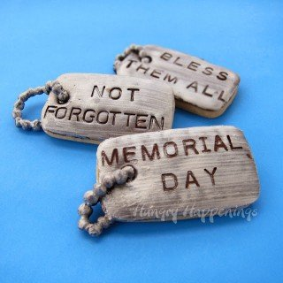 Personalize Dog Tag Cookies in Honor of Memorial Day