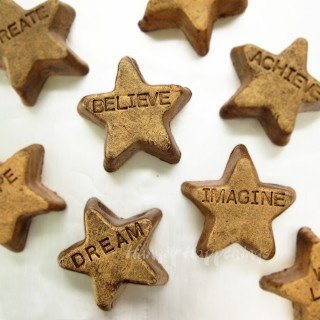 Fudgy Gold Stars Inspire You to Dream, Create, Imagine, and Believe
