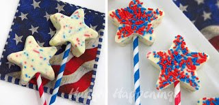 White Chocolate Fudge Stars