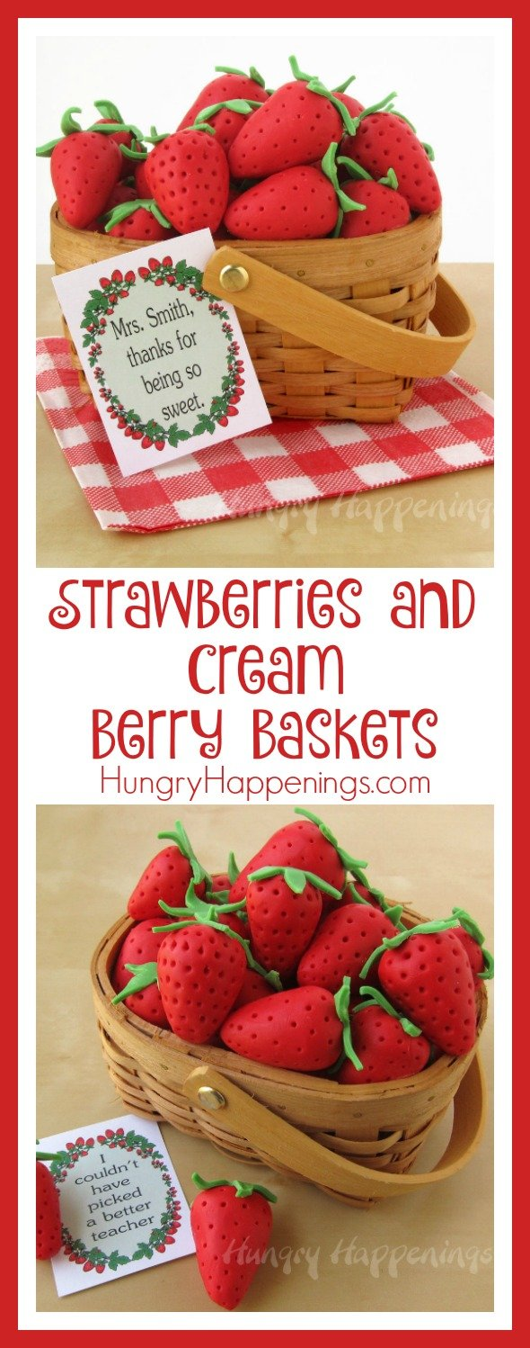 Show the special people in your life that you love them berry much with these Strawberries and Cream Berry Baskets! This original dessert will leave your mouth watering and craving more of these adorable treats.