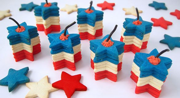 3D Firecracker Cookies for the 4th of July