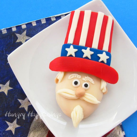 Uncle Sam Nutter Butter Cookies make fun treats for your 4th of July parties.