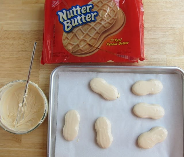 Chocolate dipped Nutter Butter Cookies