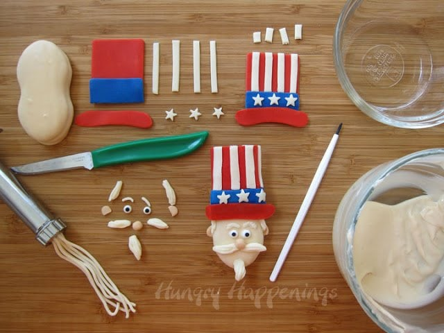 How to decorate cookies using modeling chocolate.