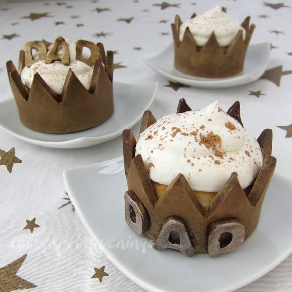 Give your dad a dessert fit for a king and make him feel special! These Chocolate Cupcake Wrappers are the perfect addition to make your treat an amazing one!