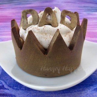 Chocolate Cupcake Wrappers – Crowns For Fathers Day