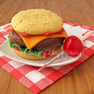 Chilly Cheeseburger Ice Cream Sandwiches