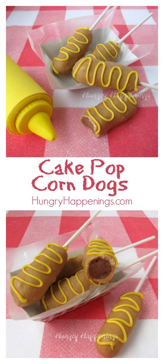 Decorate a cake pop to look like a fun carnival treat. These Cake Pop Corn Dogs look like a meal but taste like dessert.
