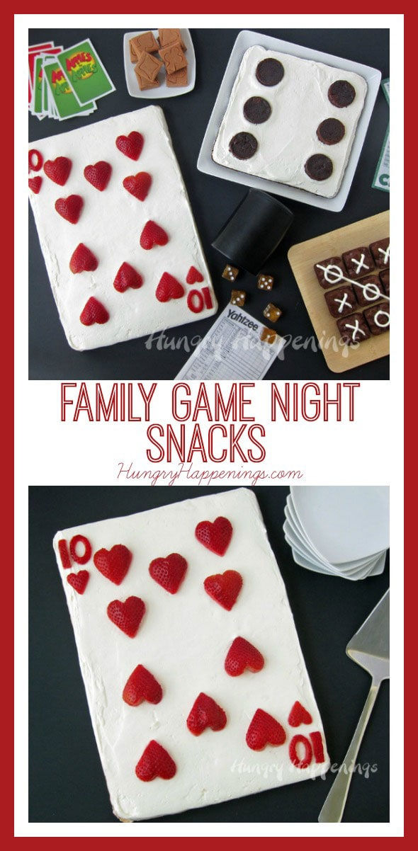 Serve some fun desserts for your Family Game Night and you'll win big. Transform brownies into a dice or a tic tac toe game and a cookie into a playing card to add even more fun to your family's game night.