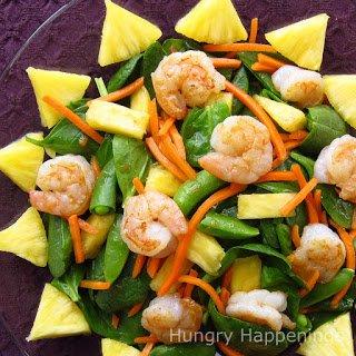 Sunny Shrimp Spinach Salad