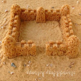 Caramel Rice Krispies Treat Sand Castle