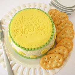 Serve a Cheese Ball Birthday Cake at your Next Birthday Party.