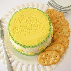 Cheese Ball Birthday Cake