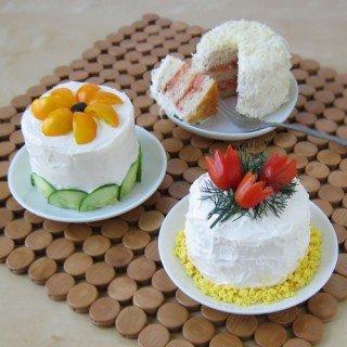 Mini Sandwich Cakes (a.k.a. – Smörgåstårta) featured on Tablespoon.com
