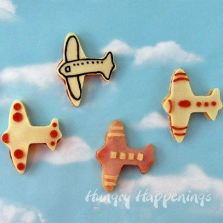 airplane shaped sandwiches