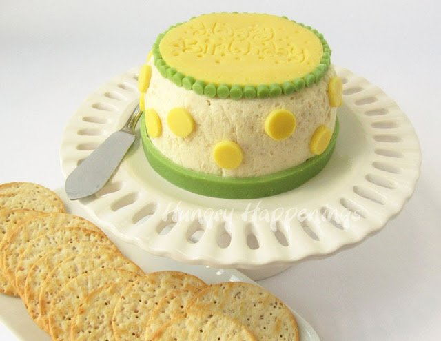 How to make a cheese ball birthday cake. 6