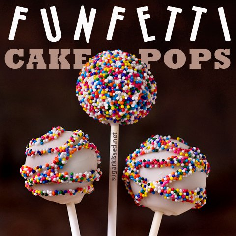 Enjoyable How To Make Funfetti Cake Pops Tutorial Funny Birthday Cards Online Elaedamsfinfo