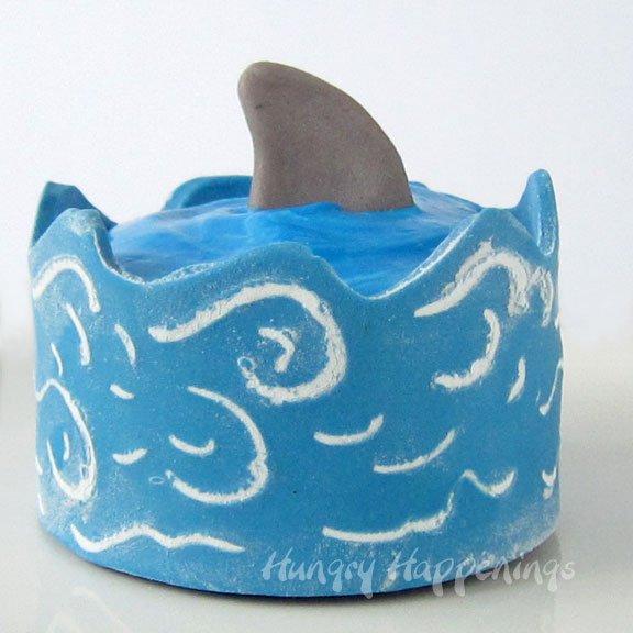 shark and ocean cupcakes