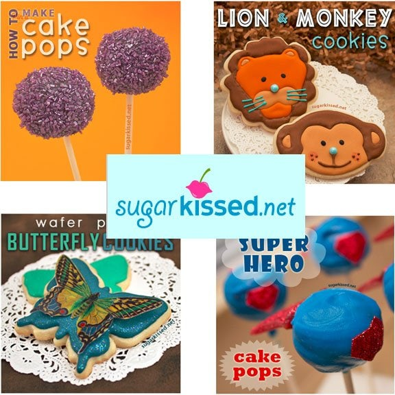 How to make cake pops, decorated cookies, and more from sugarkissed.net.