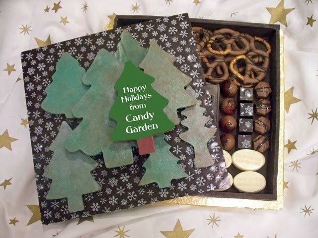Learn how to make Handmade Chocolates decorated with chocolate transfer sheets.