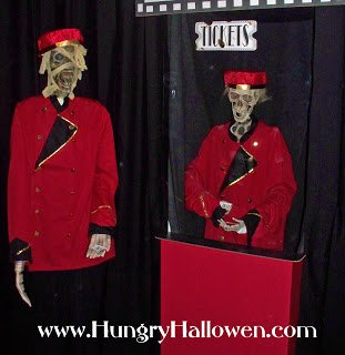 halloween decoration- zombie ticket taker