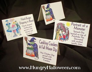 halloween food tags