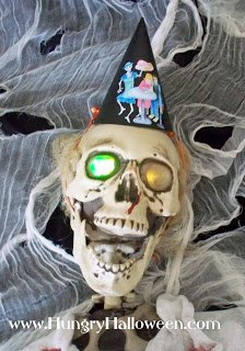 craft party hat on skeleton