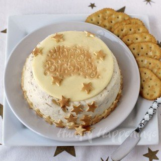 Serve an Elegant Cheese Ball Birthday Cake at your next party.