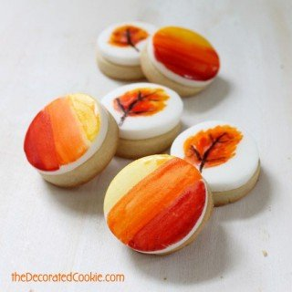 Fall Cookies – Beautiful Hand Painted Cookies by Meghan from the Decorated Cookie