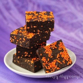 Halloween Confetti 4 Ingredient Cookies and Cream Bars
