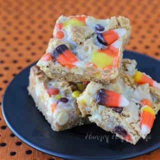 Halloween Sweet and Salty Candy Corn Magic Bars
