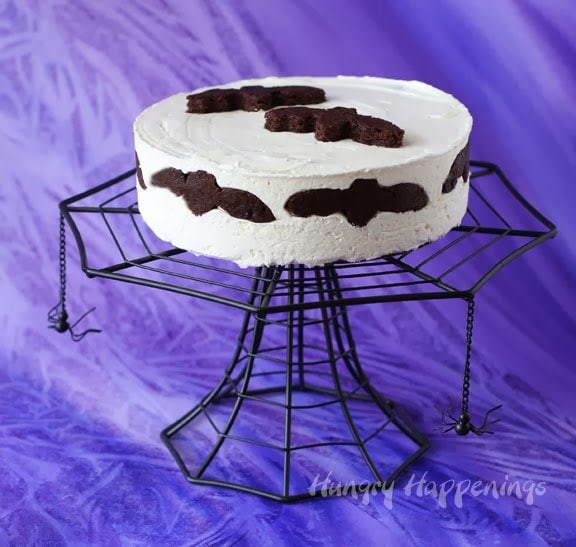 Halloween Cheesecake With Flying Bats Hungry Happenings